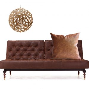 Brown Faux Leather Pillow Cover Couch Throw Pillow Case Tan Leather Display Sample
